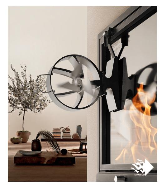SIROCCO kamina ventilaator PLUS