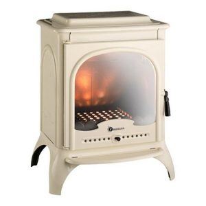 invicta seville ivory 10 kw wood burning stove