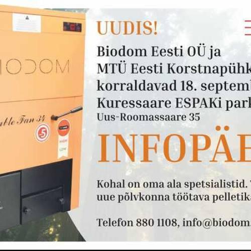 BIODOM pelletikatelde infopäev Saaremaal